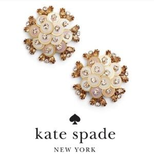 Kate Spade NWT Be Bold Cluster Gold Stud Earrings